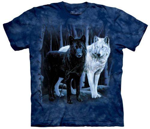 Wolf Shirts Black White