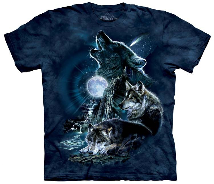 Wolf Shirts Bark at Moon