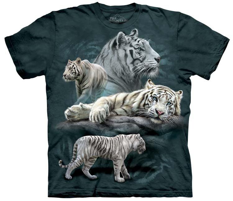 White Tiger Shirts Collage