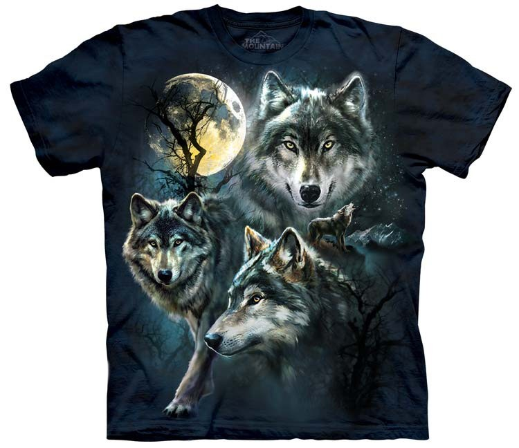 Wolf Shirts Moon Wolves