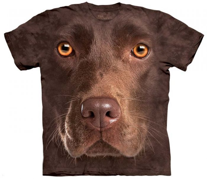Chocolate Lab Shirts Face
