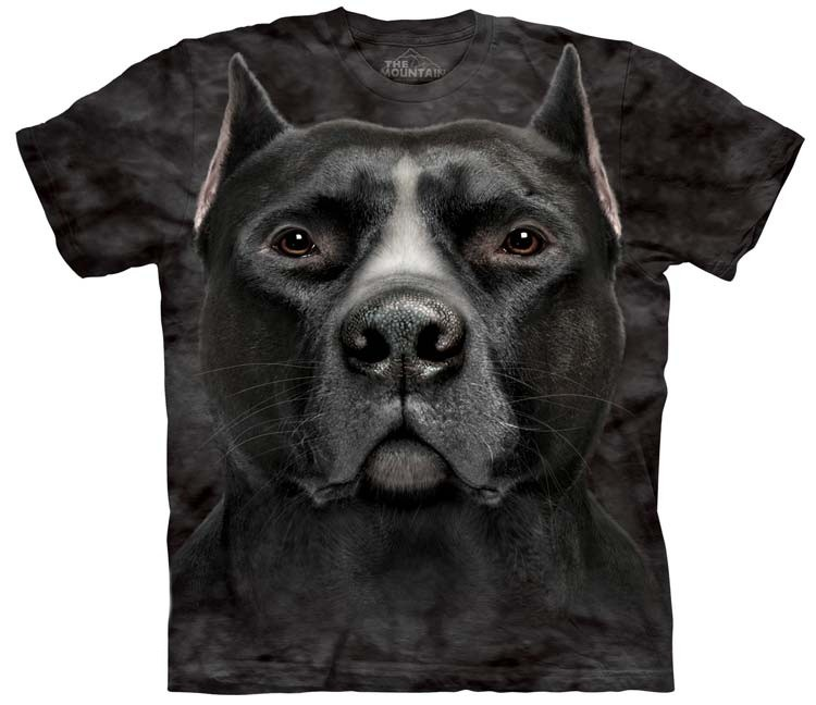 Black Pit Bull Shirts Head