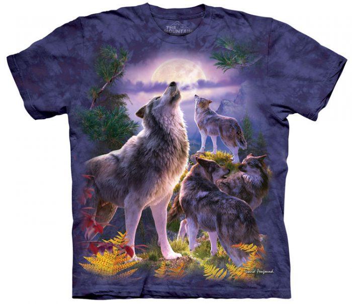 Wolfpack Moon Wolf Shirt