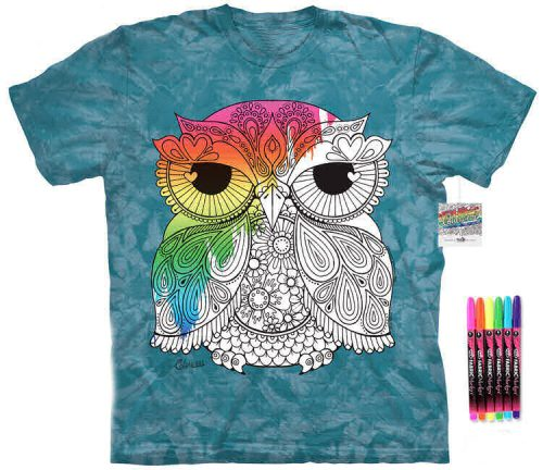 Owl 1 Color Marker Shirt