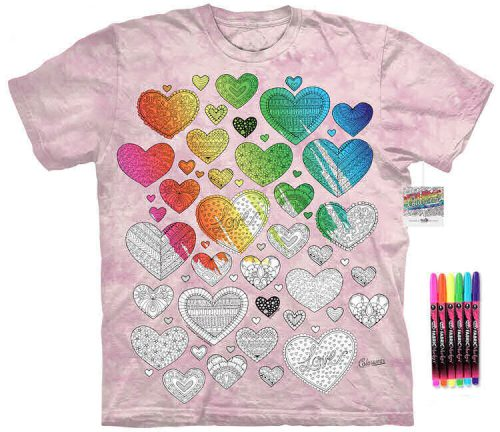 Hearts Color Marker Shirt