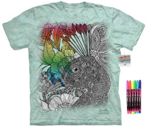 Peacock Face Color Marker Shirt