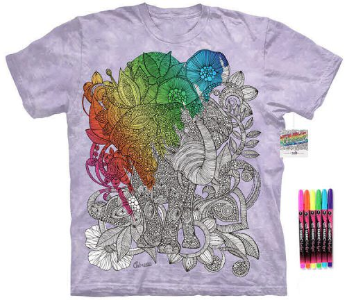 Asian Elephant Color Marker Shirt
