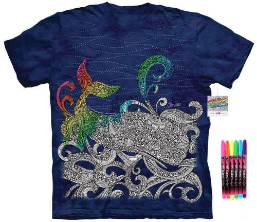 Whale Color Marker Shirt