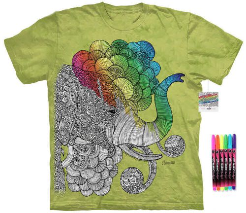 African Elephant Color Marker Shirt