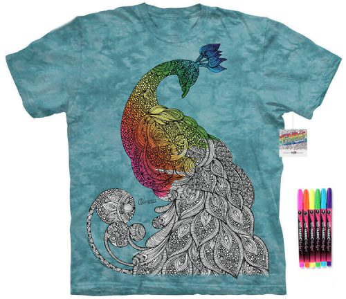 Peacock Color Marker Shirt
