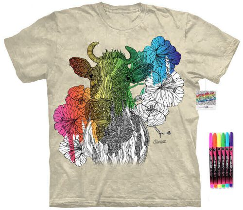 Cow Color Marker Shirt