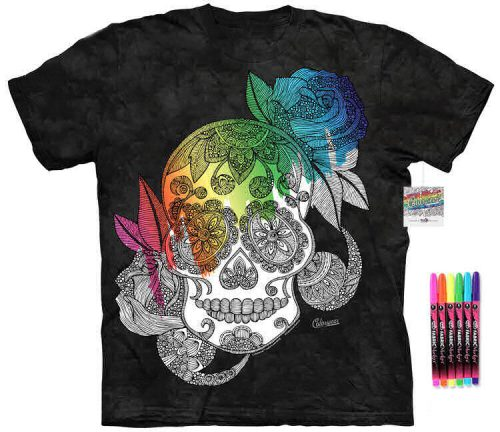 Skull Color Marker Shirt
